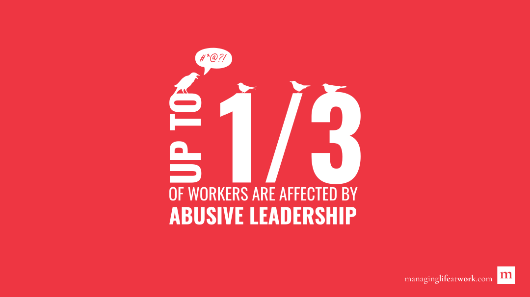 Up to 1/3 of workers are affected by abusive leadership